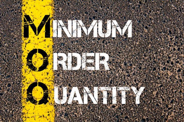minimum order quantity