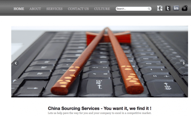 China sourcing accueil