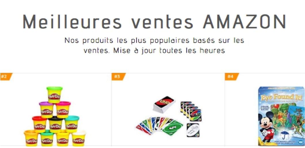 Meilleures ventes Amazon