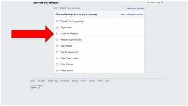 Objectif publicité réseaux sociaux