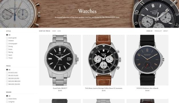 boutique de montres en ligne