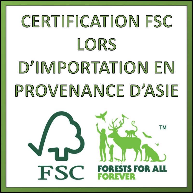 certificat FSC produit asiatique