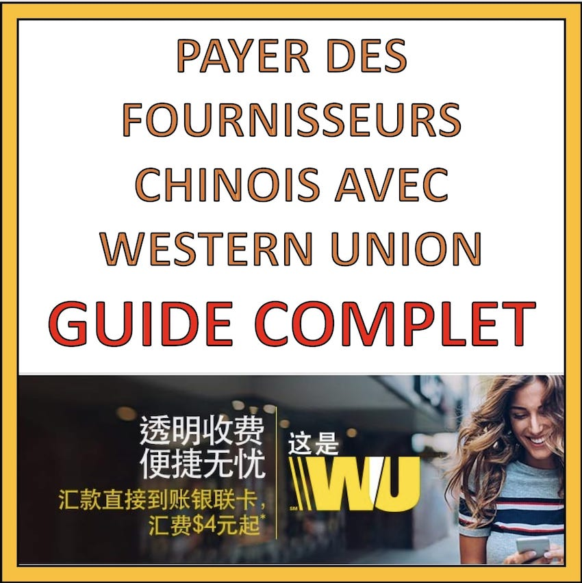 payer fournisseur chinois avec western union