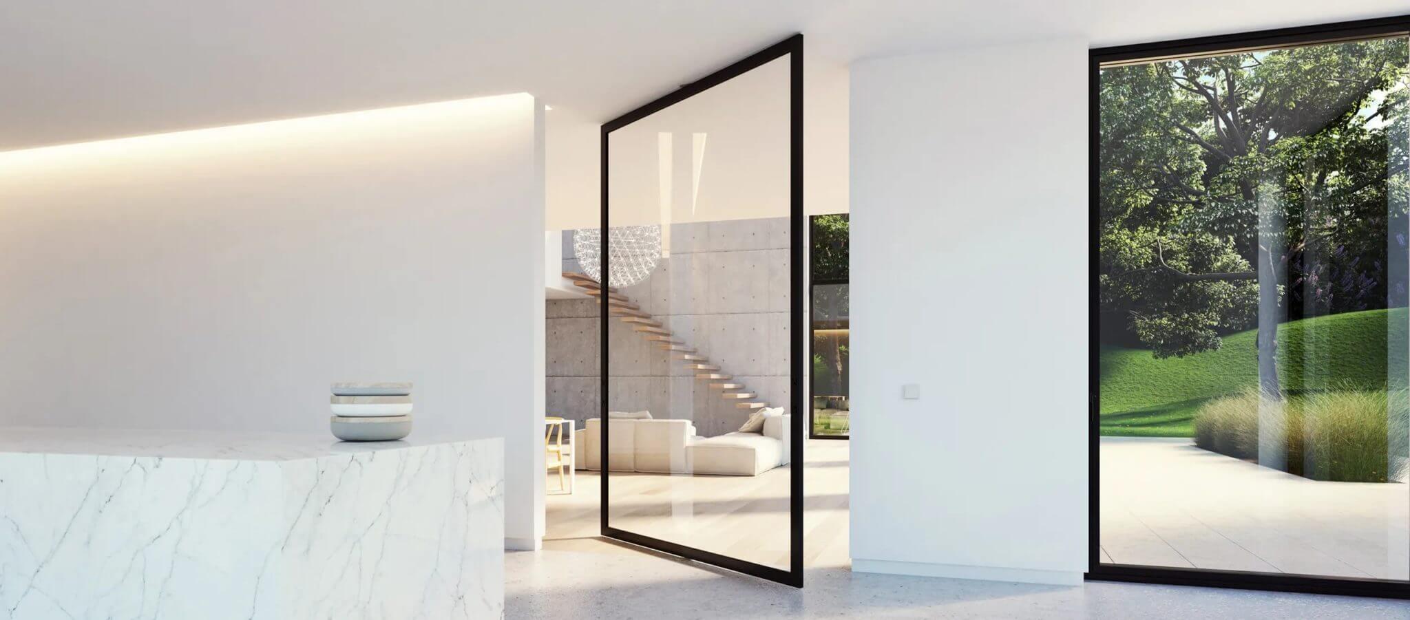 Fenêtre et porte pivotantes