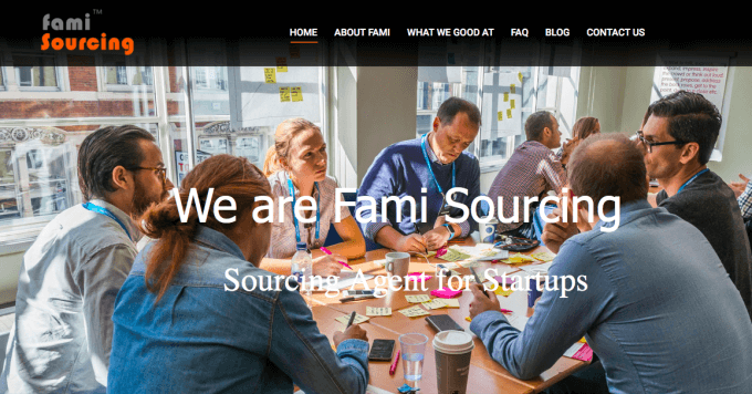 Fami Sourcing accueil