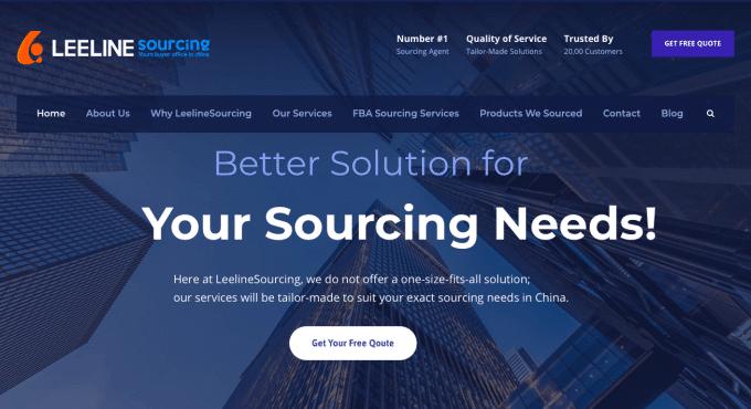 Leeline sourcing accueil